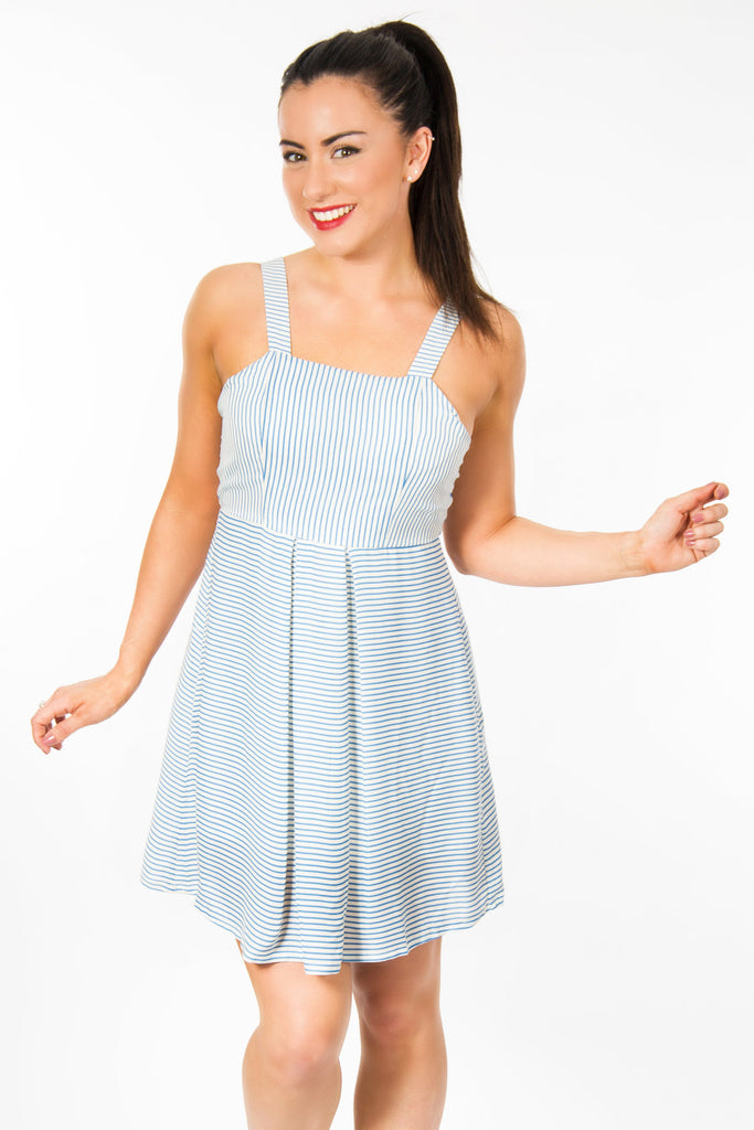 ST154 Stripy Dress With Strap