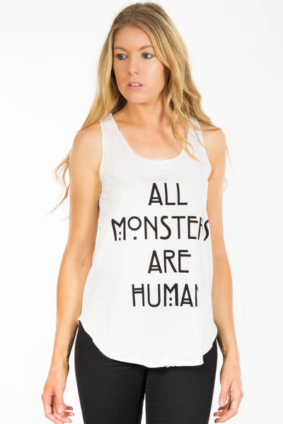 ALL MONSTERS ARE HUMAN VEST TOP