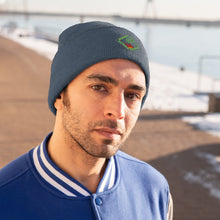 "Load image into Gallery viewer, ""MANOR"" Space Green, Knit Beanie"