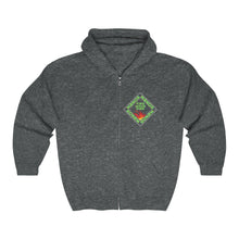 "Load image into Gallery viewer, ""MANOR"" Space Green, Unisex Heavy Blend™ Full Zip Hooded Sweatshirt"