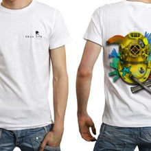Load image into Gallery viewer, #4 : Gold Dive Helmet Men's Performance Poly SPF30 Short Sleeve Tee