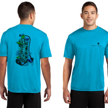 Load image into Gallery viewer, #1 : Coral Scuba Tank Men's Performance Poly SPF30 Short Sleeve Tee