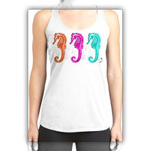 Load image into Gallery viewer, Three Bright Seahorses Women's Tank Top