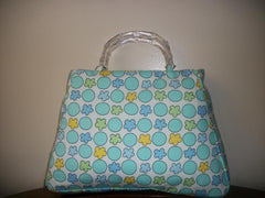 Blue/Green satchel