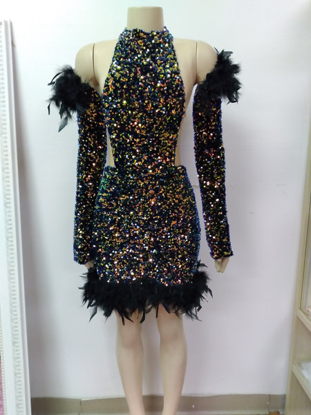 Nicki Sequin Dress