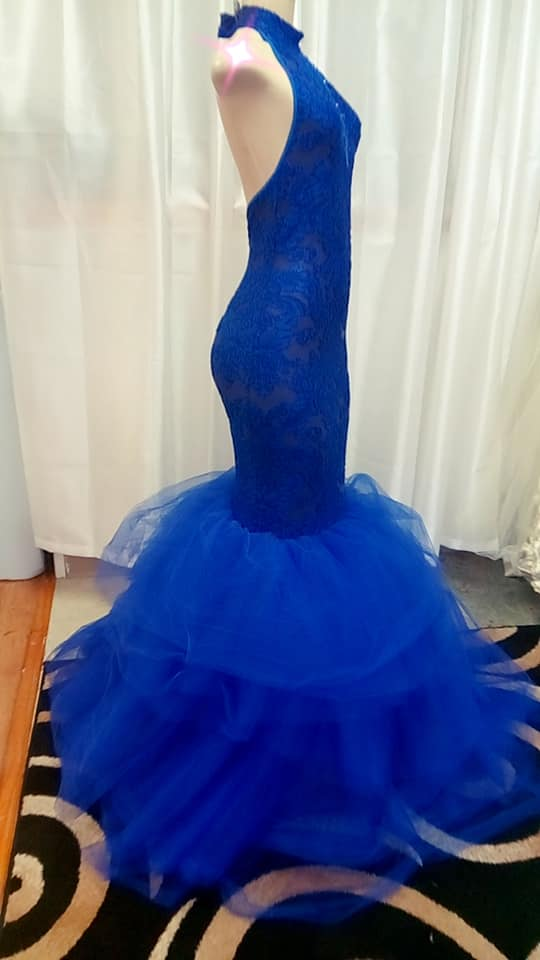 Gown-Royal Blue Mermaid Prom Dress