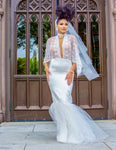 Cape Sleeve Vintage Wedding Dress