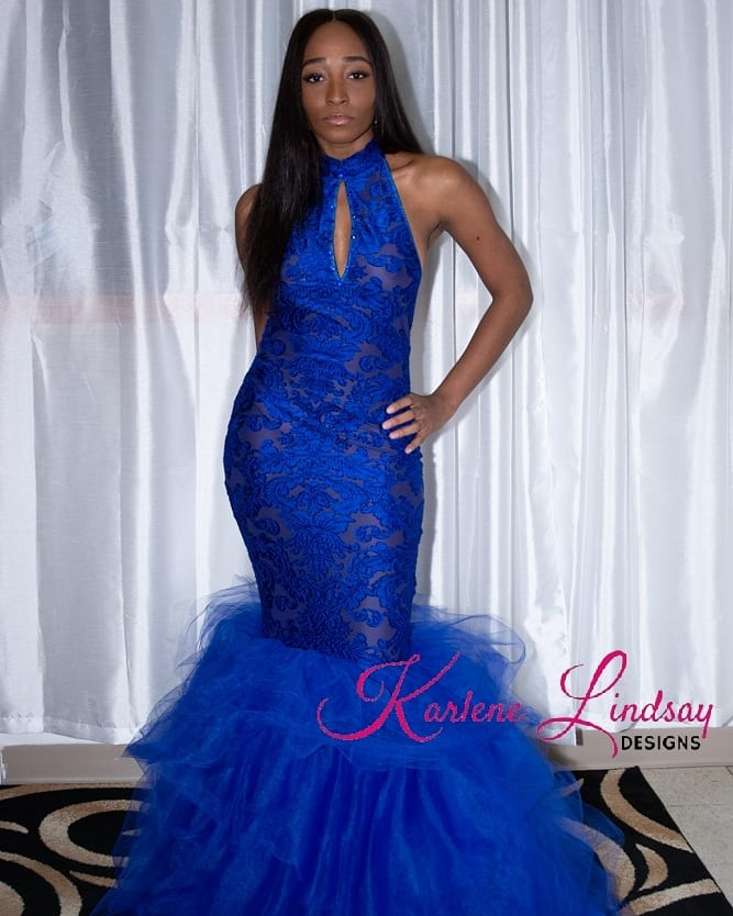 Royal Blue Mermaid Gown