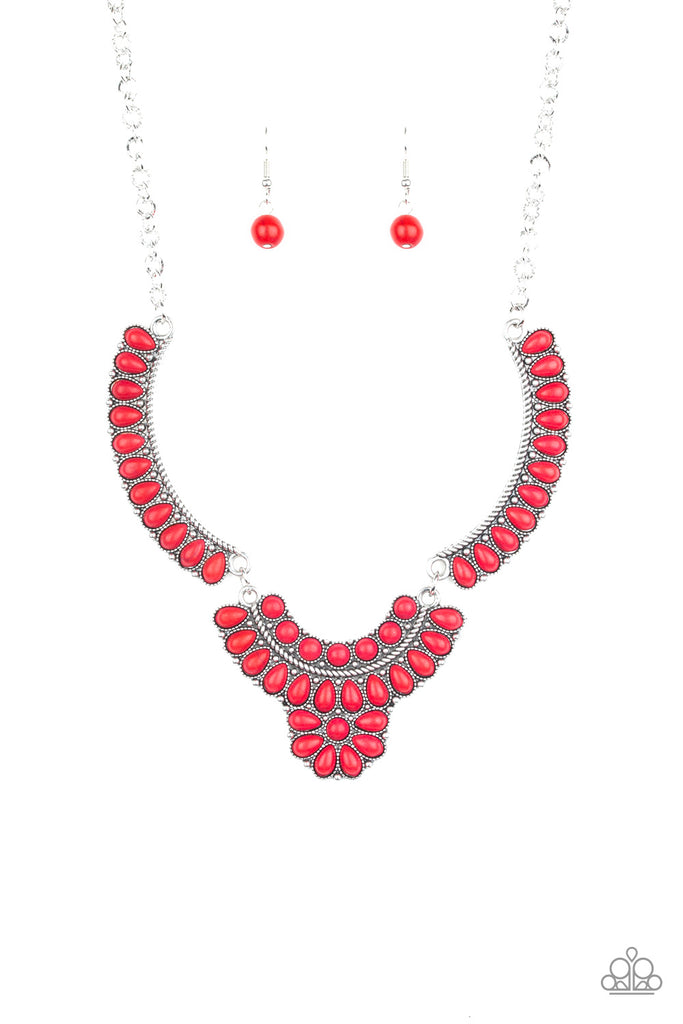 Red Necklace Set