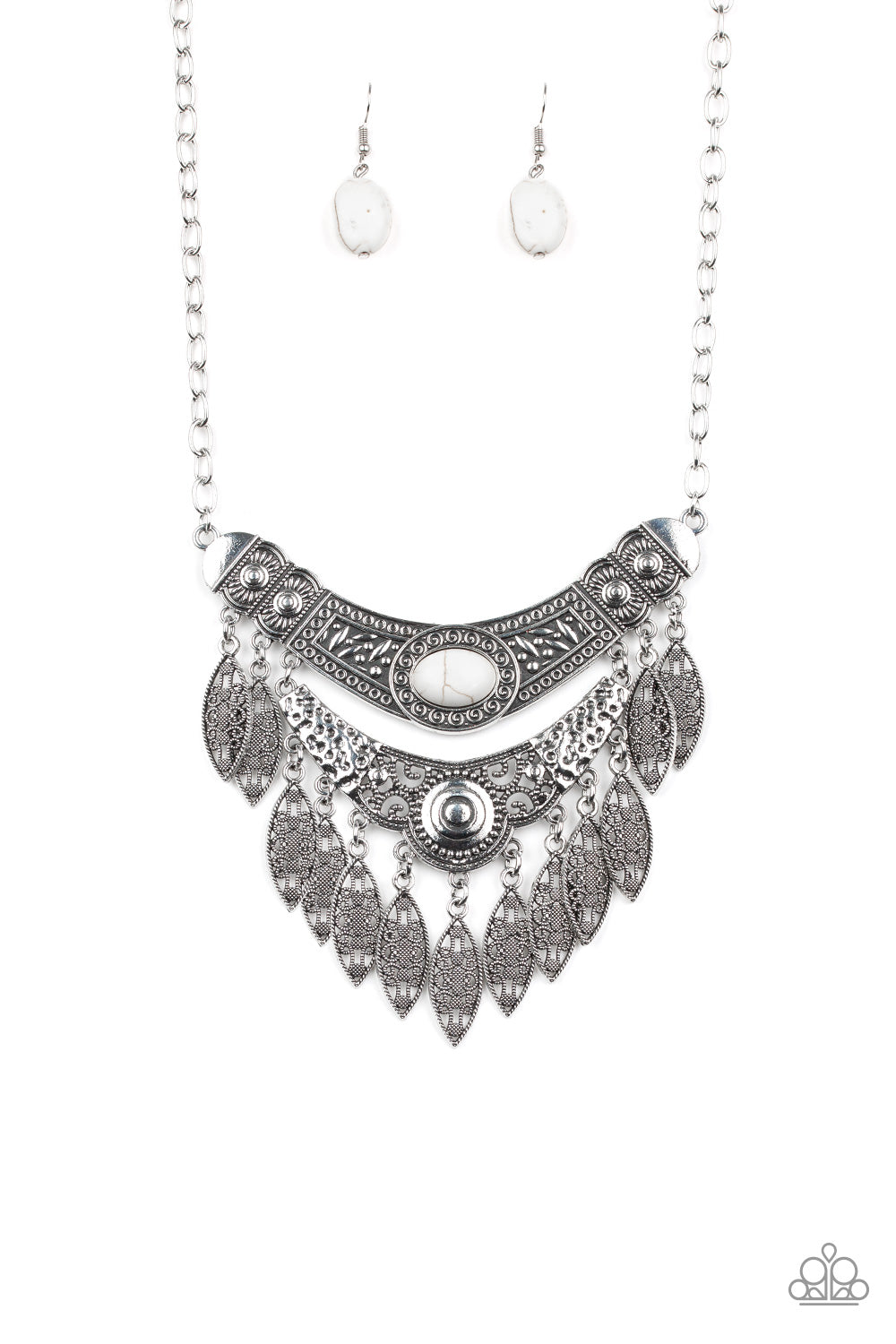 White Tribal Necklace Set