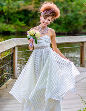 Stripe Wedding Dress