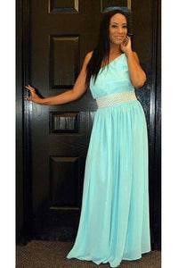 Dress - Asymmetrical Aqua Dress