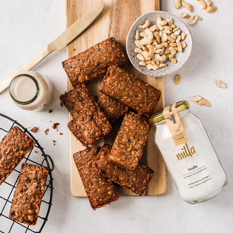 gingerbread oaty granola bars