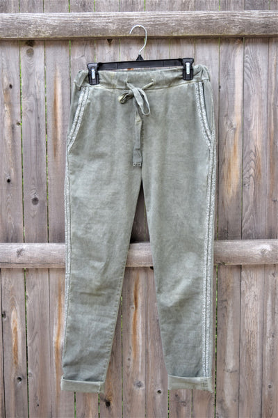 Olive Crop Bottoms