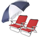Beach Chairs (2), Beach Umbrella