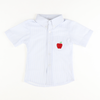 Embroidered Apple Seersucker Shirt