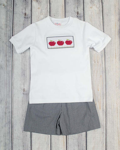 Smocked Red Apple Short Set - Boys - Stellybelly - 1