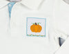 Aqua Gingham Pumpkin Smocked LS Polo - Boys - Stellybelly - 2