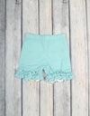 Aqua Dot Ruffle Knit Shorts - Girls - Stellybelly - 1