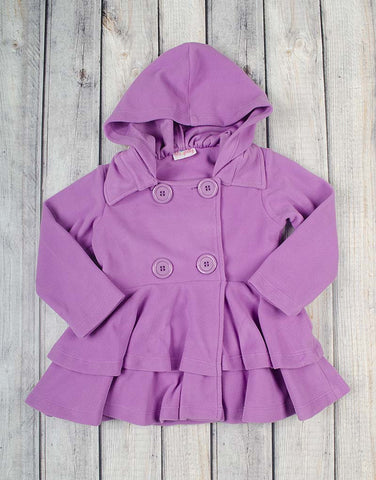 Aurora Fleece Peacoat - Girls - Stellybelly - 1