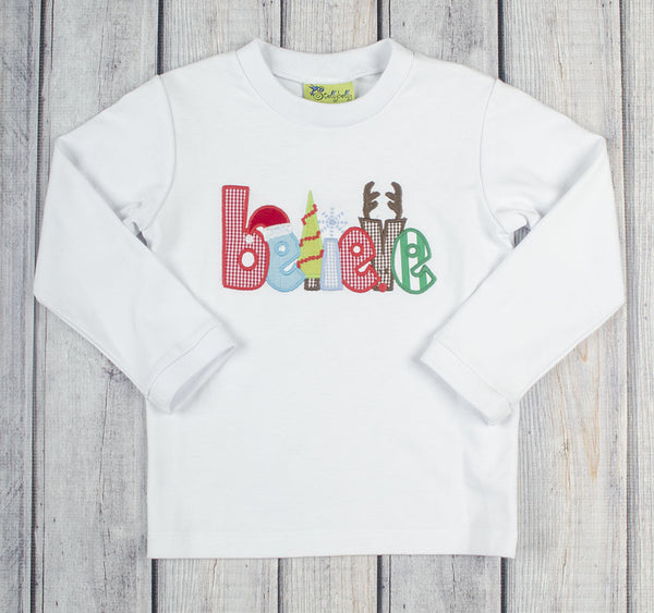 Boys Believe Applique T-Shirt - Boys - Stellybelly - 1