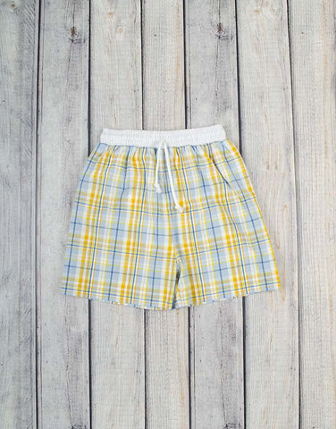 Bermuda Plaid Swim Trunks - Boys - Stellybelly - 1