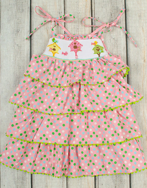 Smocked Bird House Tiered Ruffle Dress - Girls - Stellybelly