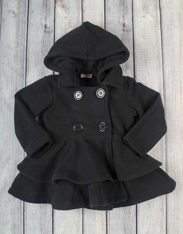 Black Fleece Peacoat - Girls - Stellybelly