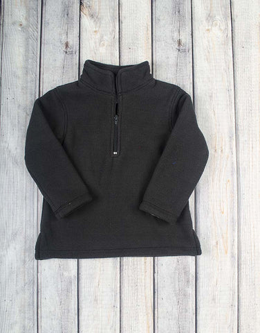 Unisex Black Half-Zip Fleece Pullover - Unisex - Stellybelly - 1
