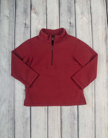 Brick Red Fleece Half-Zip - Unisex - Stellybelly - 1