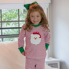 Santa Face Holiday Red Pajama Set