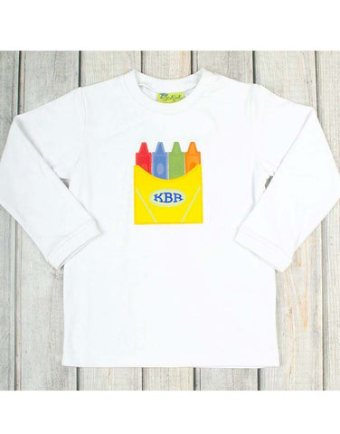 Crayon Box Applique T-Shirt - Boys - Stellybelly