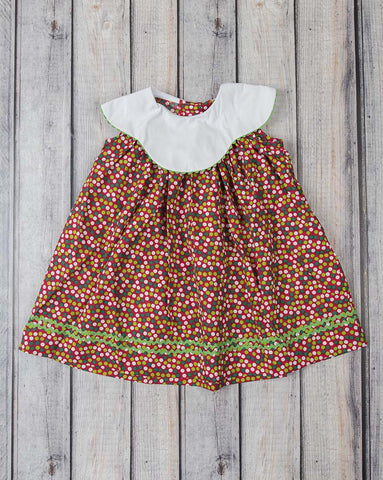 Christmas Dot Yoke Dress - Girls - Stellybelly