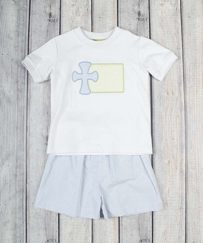 Cross Patch Short Set - Boys - Stellybelly - 1