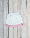 Smocked Bunny Faces Ruffle Short Set - Girls - Stellybelly - 2