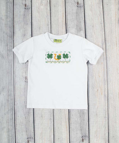 Smocked Lucky Clover Shirt - Boys - Stellybelly - 1