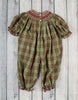 Christmas Plaid Geo Long Bubble - Girls - Stellybelly - 2