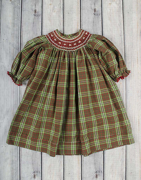 Christmas Plaid Geo Bishop - Girls - Stellybelly - 1