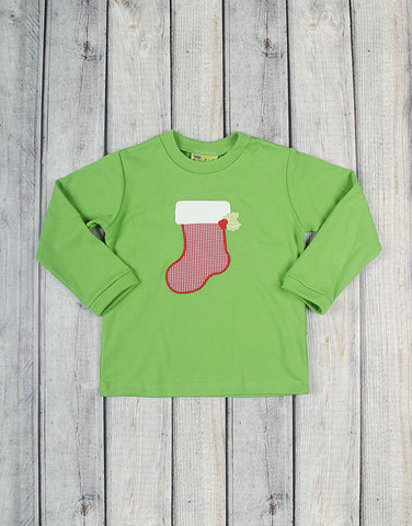 Christmas Stocking T-Shirt - Boys - Stellybelly - 1