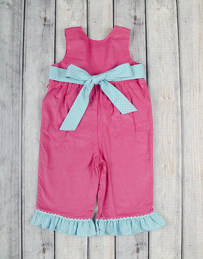 Christmas Elephant Ruffle Romper - Girls - Stellybelly - 2