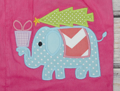 Christmas Elephant Ruffle Romper - Girls - Stellybelly - 3