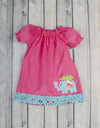 Christmas Elephant Stella Puff Sleeve Dress - Girls - Stellybelly - 1
