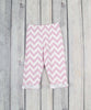 White/Light Pink Chevron Sophia Legging Set - Girls - Stellybelly - 2