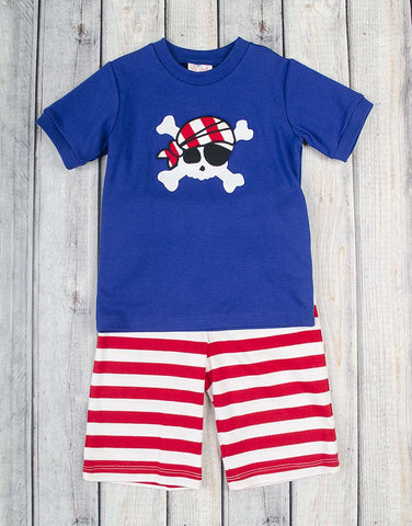 Striped Pirate Knit Short Set - Boys - Stellybelly - 1