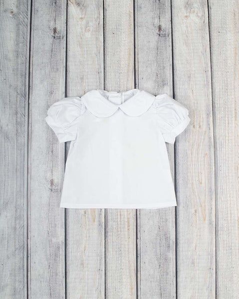 Girls SS Peter Pan Collar Shirt - Girls - Stellybelly - 1