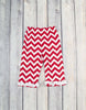 White/Red Chevron Sophia SS Legging Set - Girls - Stellybelly - 3