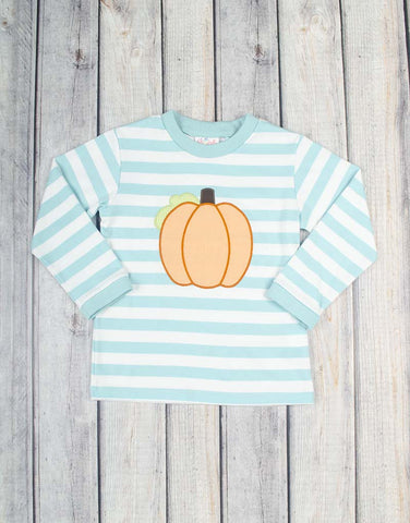 Aqua Pumpkin Knit T-Shirt - Boys - Stellybelly - 1