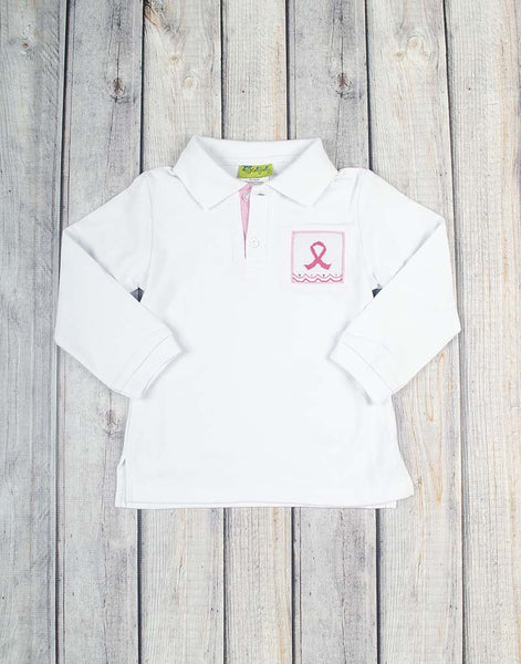 Smocked Wings of Hope LS Polo - Boys - Stellybelly - 1