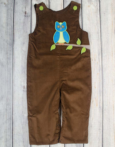 Winter Owl Applique Longall - Boys - Stellybelly - 1