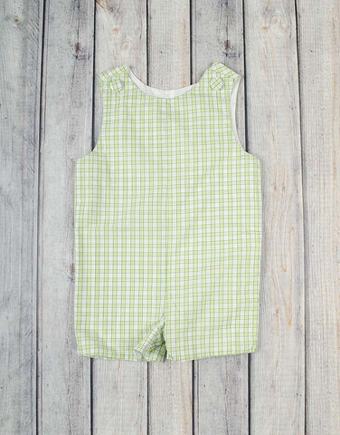 Light Green Plaid Jon Jon - Boys - Stellybelly - 1